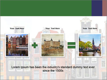 Amsterdam . traditional houses border PowerPoint Template - Slide 22