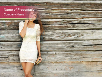 Beautiful girl standing PowerPoint Templates - Slide 1
