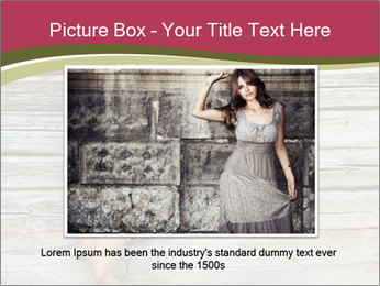 Beautiful girl standing PowerPoint Templates - Slide 15