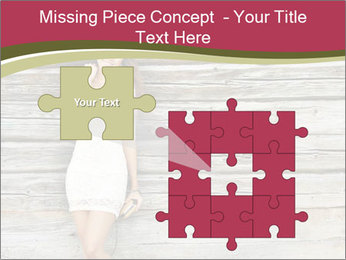 Beautiful girl standing PowerPoint Templates - Slide 45