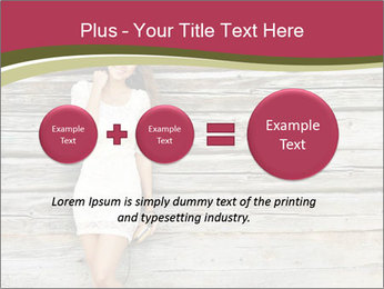Beautiful girl standing PowerPoint Templates - Slide 75