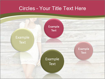 Beautiful girl standing PowerPoint Templates - Slide 77