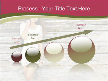 Beautiful girl standing PowerPoint Templates - Slide 87