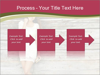 Beautiful girl standing PowerPoint Templates - Slide 88