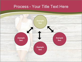 Beautiful girl standing PowerPoint Templates - Slide 91