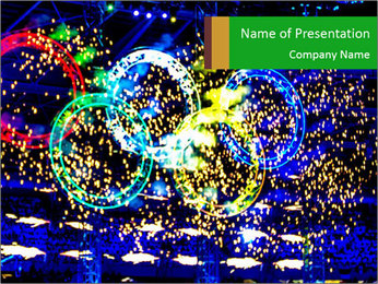 Winter Olympic Games of Turin 2006 PowerPoint Template - Slide 1
