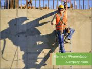 Construction worker PowerPoint Templates