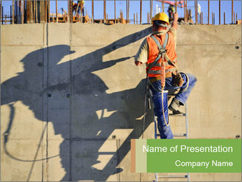 Construction worker PowerPoint Template - Slide 1