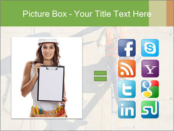 Construction worker PowerPoint Template - Slide 21
