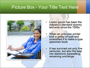 Happy pretty young smiling woman PowerPoint Template - Slide 13