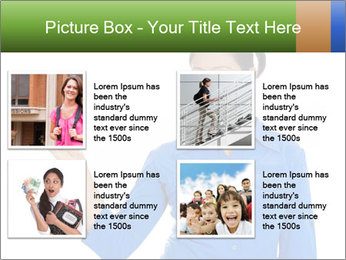 Happy pretty young smiling woman PowerPoint Template - Slide 14