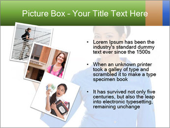 Happy pretty young smiling woman PowerPoint Template - Slide 17