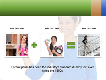 Happy pretty young smiling woman PowerPoint Template - Slide 22