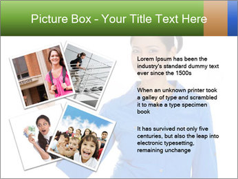 Happy pretty young smiling woman PowerPoint Template - Slide 23