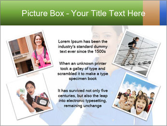 Happy pretty young smiling woman PowerPoint Template - Slide 24