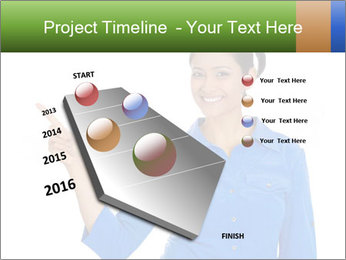 Happy pretty young smiling woman PowerPoint Template - Slide 26