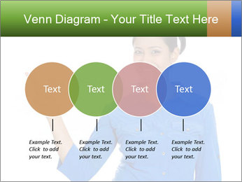 Happy pretty young smiling woman PowerPoint Template - Slide 32