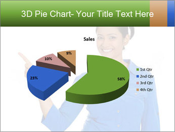 Happy pretty young smiling woman PowerPoint Template - Slide 35