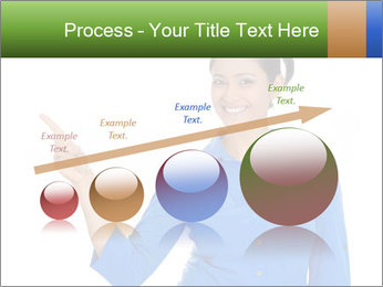 Happy pretty young smiling woman PowerPoint Template - Slide 87