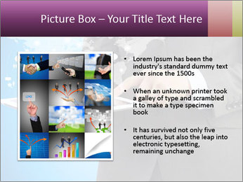 Businessman in a suit holding a tablet computer PowerPoint Templates - Slide 13