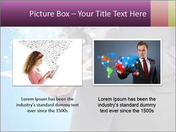 Businessman in a suit holding a tablet computer PowerPoint Templates - Slide 18