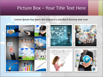Businessman in a suit holding a tablet computer PowerPoint Templates - Slide 19
