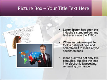 Businessman in a suit holding a tablet computer PowerPoint Templates - Slide 20