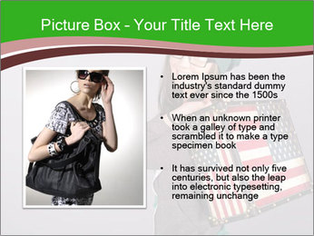 Girl with a suitcase PowerPoint Template - Slide 13