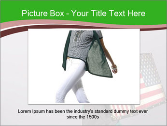 Girl with a suitcase PowerPoint Template - Slide 15