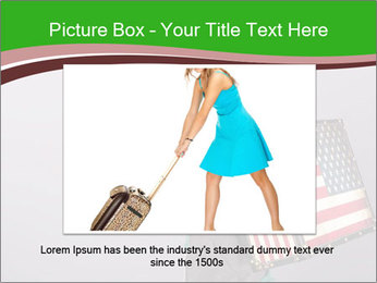 Girl with a suitcase PowerPoint Template - Slide 16