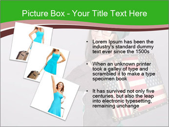 Girl with a suitcase PowerPoint Template - Slide 17
