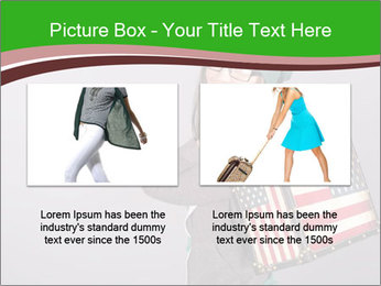 Girl with a suitcase PowerPoint Template - Slide 18