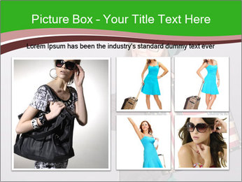 Girl with a suitcase PowerPoint Template - Slide 19