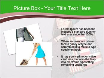 Girl with a suitcase PowerPoint Template - Slide 20