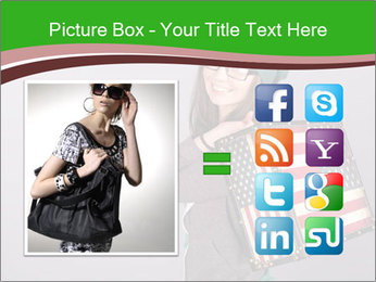 Girl with a suitcase PowerPoint Template - Slide 21