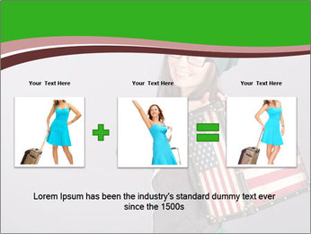 Girl with a suitcase PowerPoint Template - Slide 22