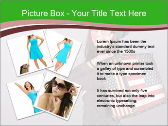 Girl with a suitcase PowerPoint Template - Slide 23