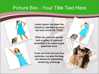 Girl with a suitcase PowerPoint Template - Slide 24