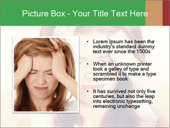 Teen woman with headache PowerPoint Template - Slide 13