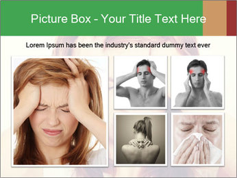 Teen woman with headache PowerPoint Templates - Slide 19