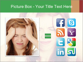 Teen woman with headache PowerPoint Template - Slide 21