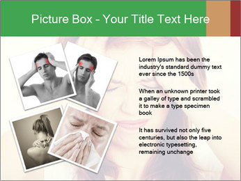 Teen woman with headache PowerPoint Template - Slide 23