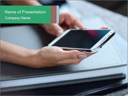 Hands of a businesswoman PowerPoint Template