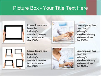 Hands of a businesswoman PowerPoint Template - Slide 14
