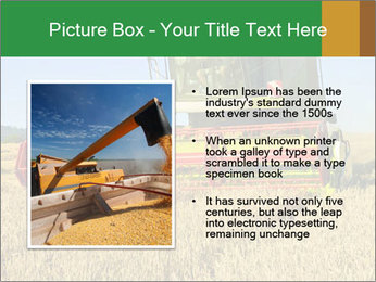 Combine harvester at work PowerPoint Template - Slide 13