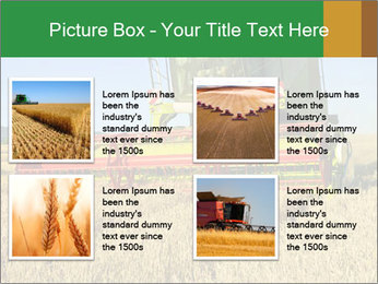Combine harvester at work PowerPoint Template - Slide 14