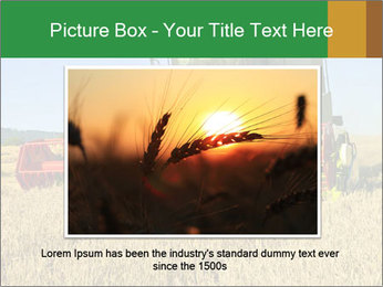 Combine harvester at work PowerPoint Template - Slide 15