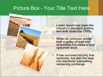 Combine harvester at work PowerPoint Template - Slide 17