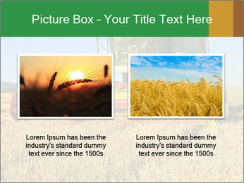 Combine harvester at work PowerPoint Template - Slide 18