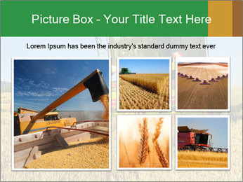 Combine harvester at work PowerPoint Template - Slide 19